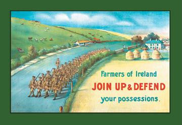 Farmers of Ireland, Join Up and Defend Your Possessions 20x30 poster