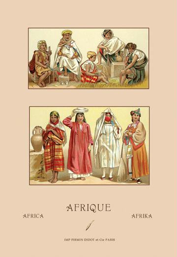 Traditional Dress of Northern Africa #2 20x30 poster