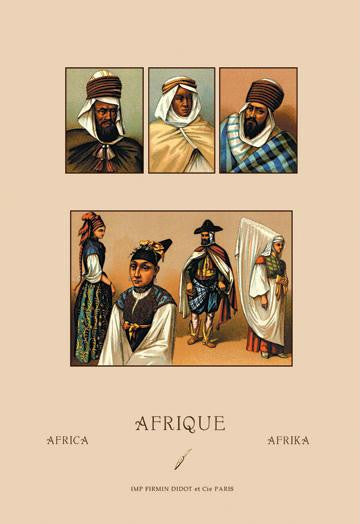 An Assortment of African Costumes 20x30 poster