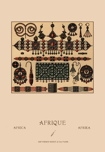 African Metalwork and Beading 20x30 poster