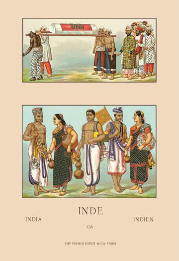 Colorful Costumes of India 20x30 poster