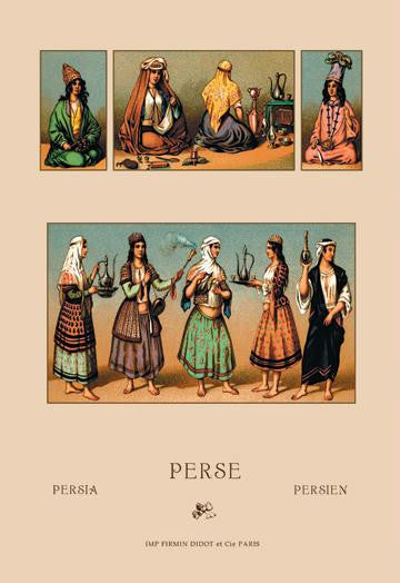 Traditional Dress of Persia #1 20x30 poster