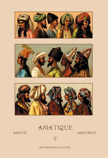 A Variety of Asiatic Head-Coverings #1 20x30 poster