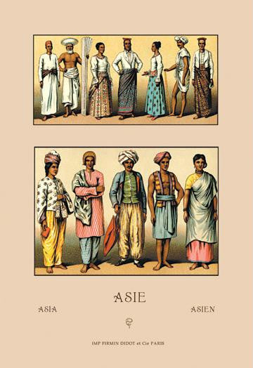 An Assortment of Asian Clothing 20x30 poster