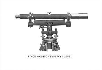 18 Inch Monitor Type Wye Level 20x30 poster