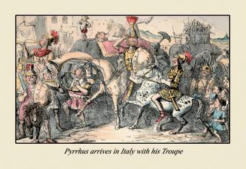 Pyrrhus Arrives in Italy With His Troupe 20x30 poster