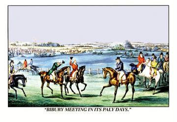 Bibury Meeting in its Paly Days 20x30 poster