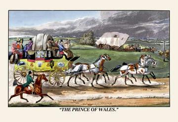 The Prince of Wales Rides on a Horse-Drawn Carriage 20x30 poster