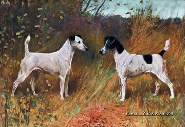 Two Fox Terriers 20x30 poster