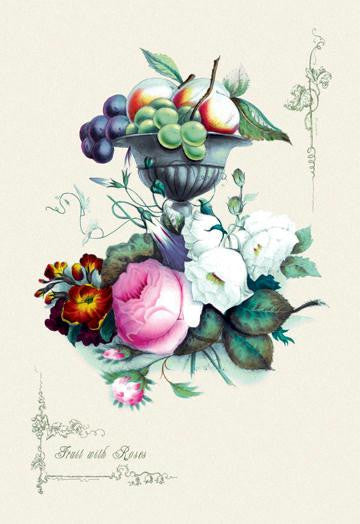 Fruit with Roses 20x30 poster