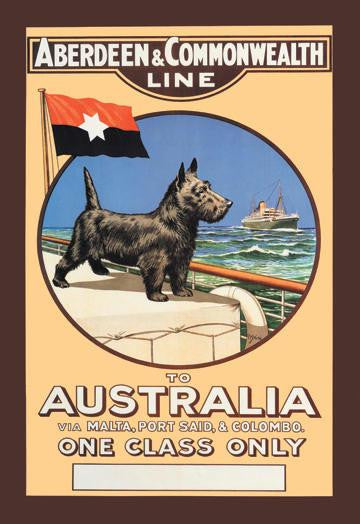 Aberdeen and Commonwealth Cruise Line to Australia 20x30 poster
