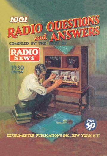 1001 Radio Questions and Answers 20x30 poster