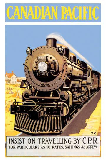 Canadian Pacific - Insist on Traveling by C.P.R. 20x30 poster