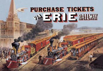 Purchase Tickets via Erie Railway 20x30 poster