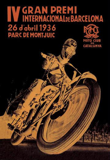 4th International Barcelona Grand Prix 20x30 poster