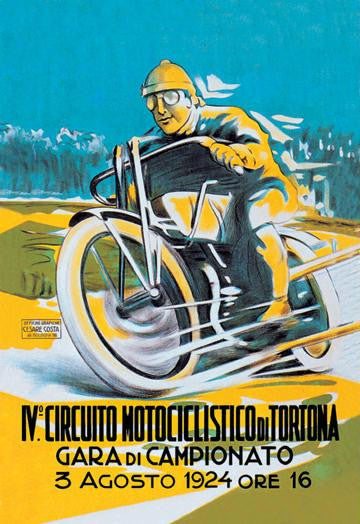 4th Motorcycle Circuit of Tortona 20x30 poster