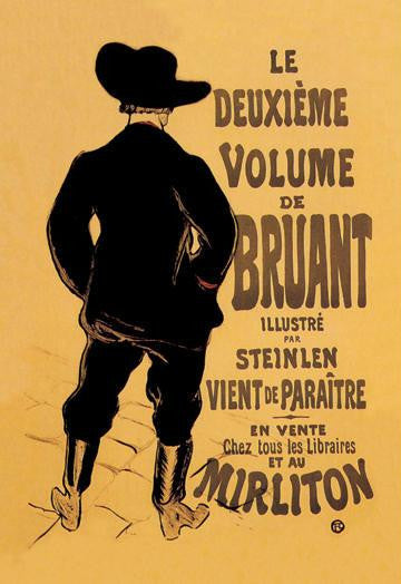 Le Deuxieme Volume de Bruant 28x42 Giclee on Canvas