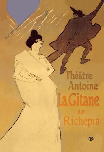 La Gitane de Richepin: Theatre Antoine 28x42 Giclee on Canvas