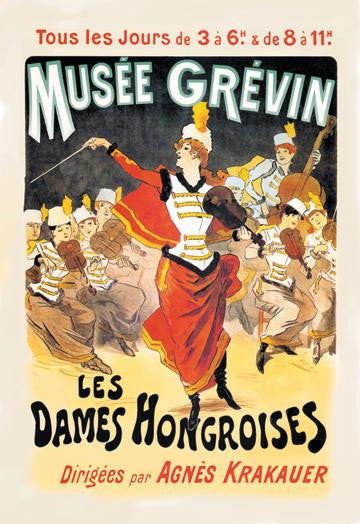 Musee Grevin: Les Dames Hongroises 28x42 Giclee on Canvas