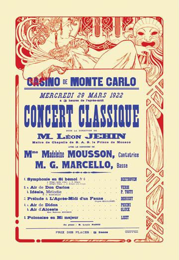 Concert at the Monte Carlo Casino 28x42 Giclee on Canvas