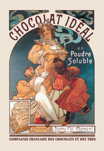 Chocolat Ideal 28x42 Giclee on Canvas