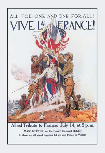 Vive la France! 28x42 Giclee on Canvas