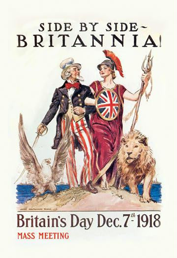 Side by Side - Britannia 28x42 Giclee on Canvas