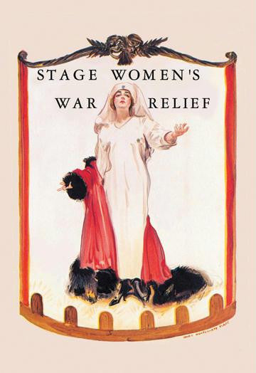Stage Women's War Relief 28x42 Giclee on Canvas
