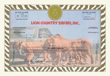 Lion Country Safari  Inc. 28x42 Giclee on Canvas