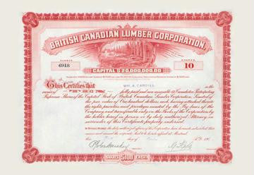 British Canadian Lumber Corporation 28x42 Giclee on Canvas
