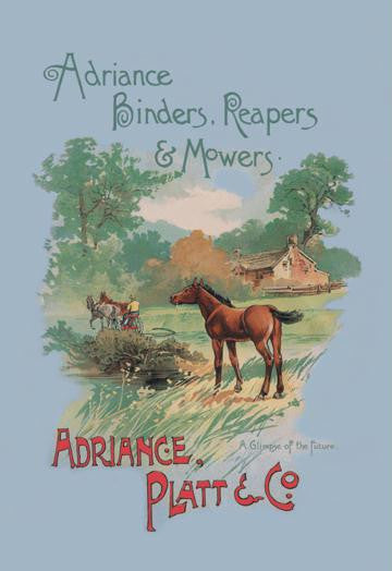Adriance Binders  Reapers and Mowers 28x42 Giclee on Canvas