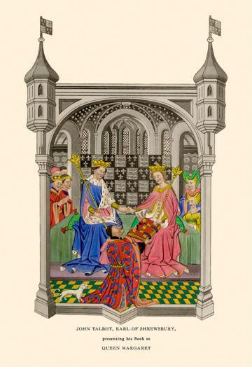 John Talbot Presenting his Book to Queen Margaret 28x42 Giclee on Canvas