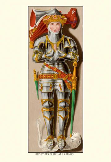 Effigy of Sir Richard Vernon 28x42 Giclee on Canvas