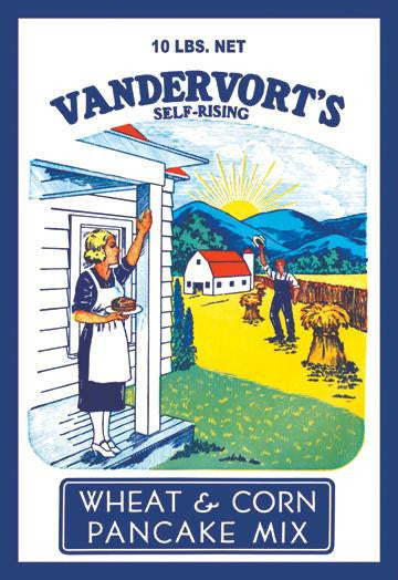 1 Vandervort's Wheat and Corn Pancake Mix 28x42 Giclee on Canvas