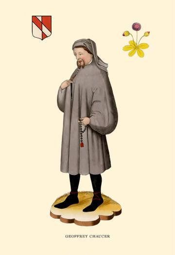 Geoffrey Chaucer 28x42 Giclee on Canvas