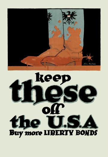 Keep These Off The USA 28x42 Giclee on Canvas