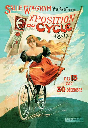 1897 Bicycle Exhibition 12x18 Giclee on canvas