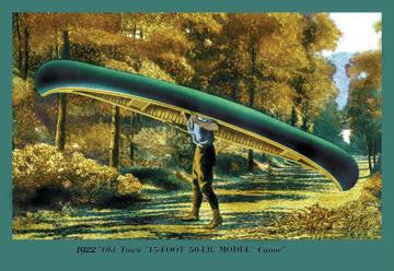 15 Foot 50 Lb. Model' Canoe 12x18 Giclee on canvas