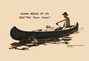 10 000 Miles In An 1922 12x18 Giclee on canvas