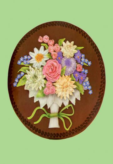 Tart Decoration with Butter Cream Flowers 12x18 Giclee on canvas