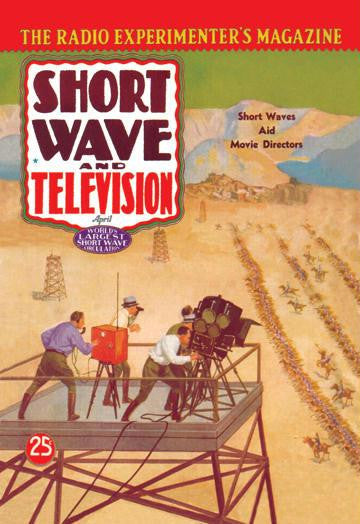 Short Wave and Television: Short Waves Aid Movie Directors 12x18 Giclee on canvas