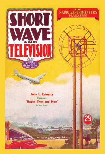 Short Wave and Television: Radio and Airplanes 12x18 Giclee on canvas