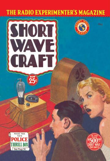 Short Wave Craft: Make This New Police Thrill Box 12x18 Giclee on canvas