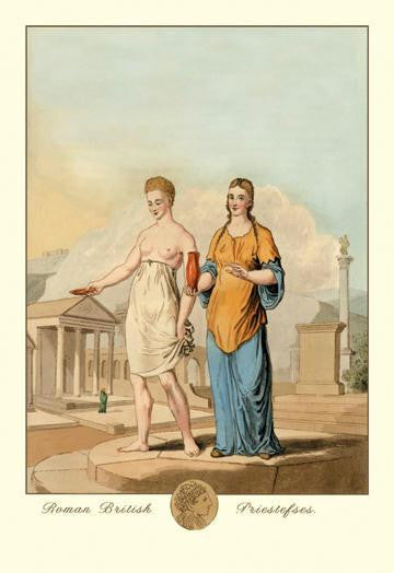 Roman British Priestesses 12x18 Giclee on canvas