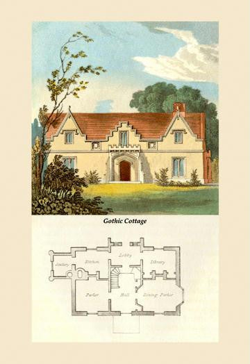 A Gothic Cottage 12x18 Giclee on canvas