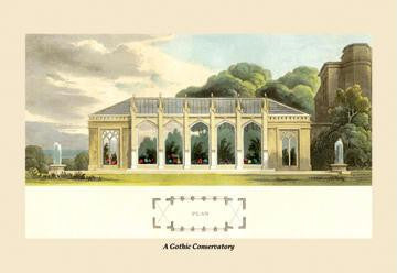 A Gothic Conservatory 12x18 Giclee on canvas