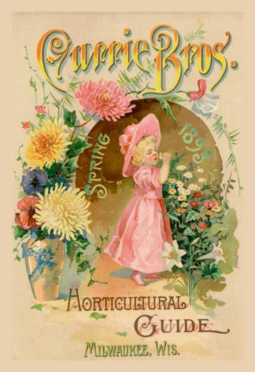 Currie Bros. Horticultural Guide  Spring 1893 12x18 Giclee on canvas