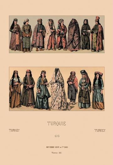 Traditional Turkish Women 12x18 Giclee on canvas