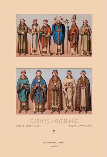 Medieval Clergymen #1 12x18 Giclee on canvas