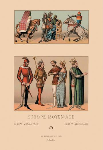 Royalty of Medieval Europe 12x18 Giclee on canvas